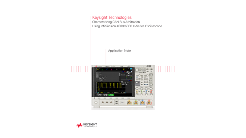 Characterizing CAN Bus Arbitration Using Oscilloscopes