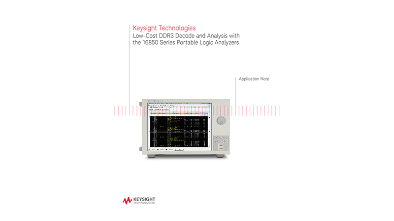 Low-Cost DDR3 Decode and Analysis with Portable Logic Analyzers
