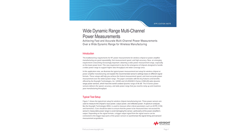 Accurate Wide Dynamic Range Multi-Channel Power Measurements