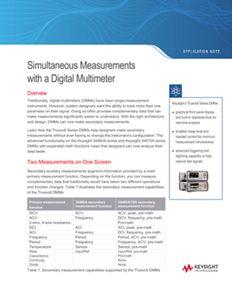 Simultaneous Measurements with a Digital Multimeter (DMM)