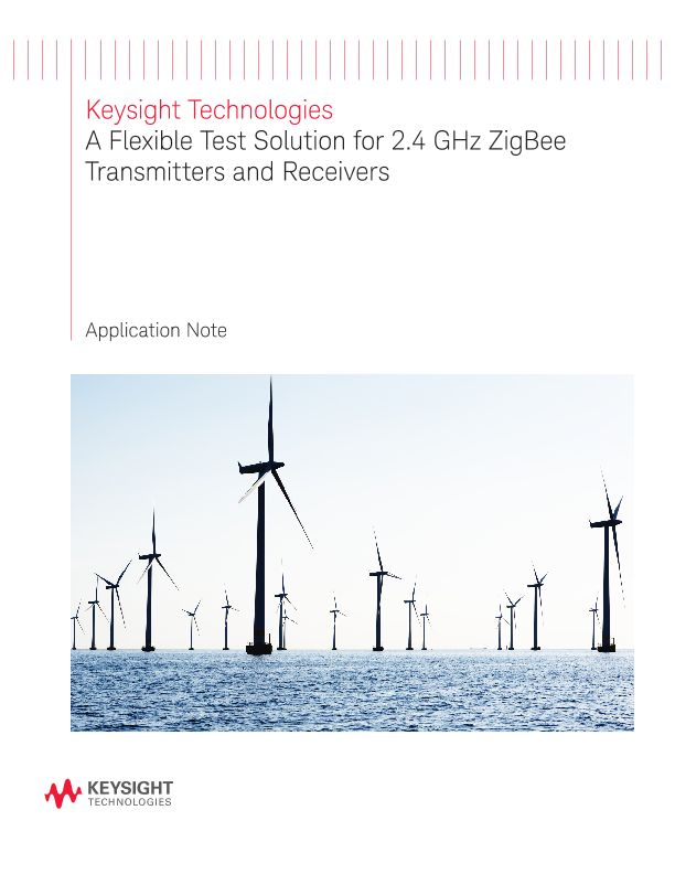 A Flexible Test Solution for 2.4 GHz ZigBee Transmitters and Receivers