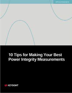 Power Integrity Measurements
