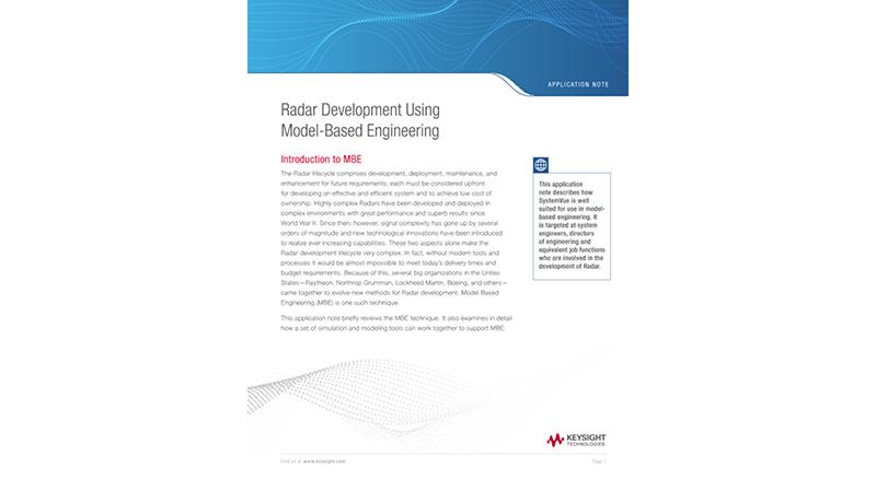 Radar Development Using Model-Based Engineering