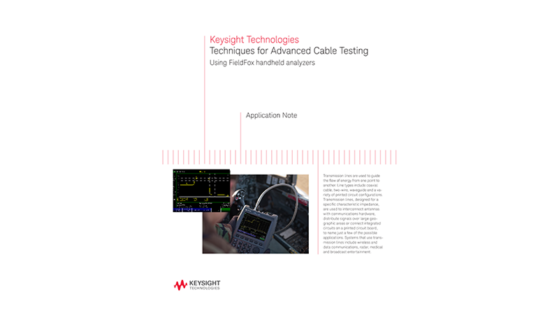 Techniques for Advanced Cable Testing
