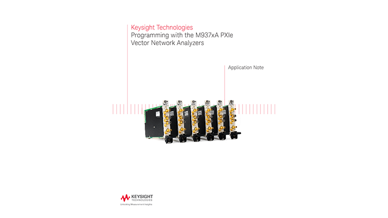 Programming the PXI Vector Network Analyzers (VNAs)