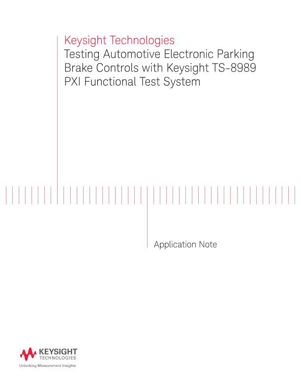 Testing Automotive Electronic Parking Brake (EPB) Controls