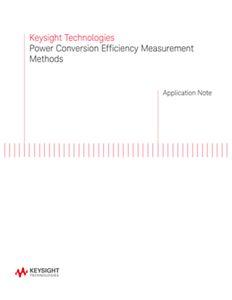 Power Conversion Efficiency Measurement Methods