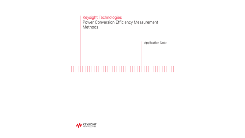Power Conversion Efficiency Measurement Methods