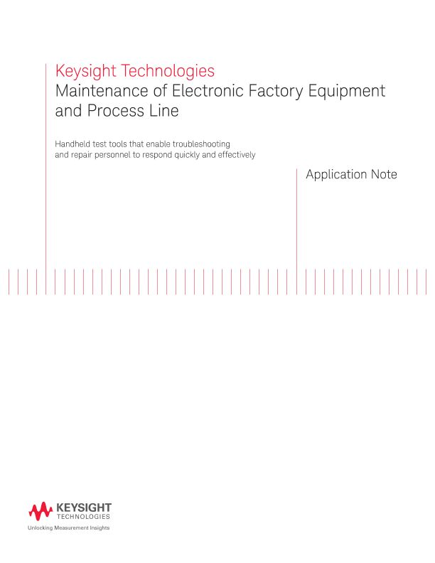 Maintain Factory Equipment and Process Line