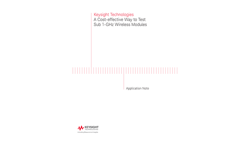 A Cost-effective Way to Test Sub 1-GHz Wireless Modules