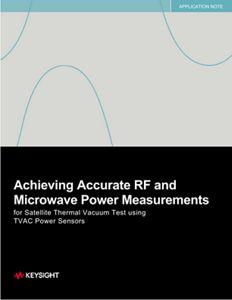 RF and Microwave Power Measurement Accuracy – TVAC Testing