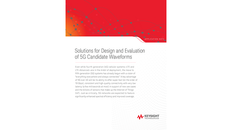 Solutions for Design and Evaluation of 5G Candidate Waveforms