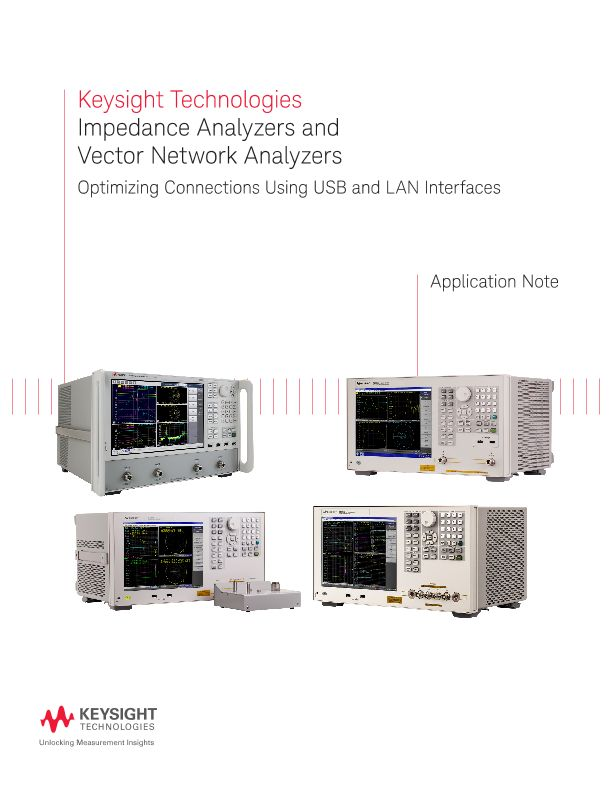 USB and LAN Interfaces for Connecting Measurement Instruments