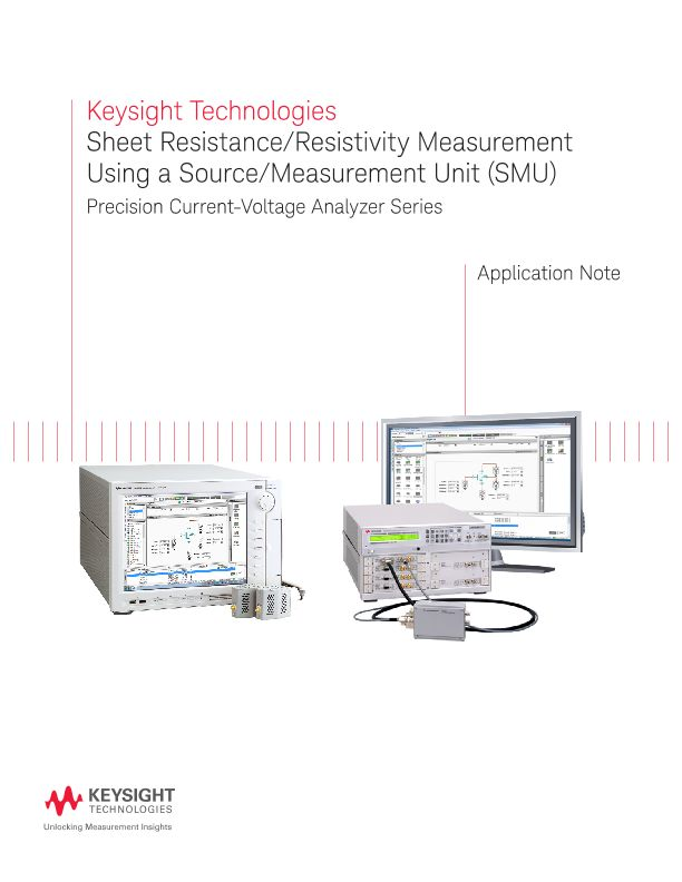Sheet Resistivity and Sheet Resistance Measurement Using an SMU