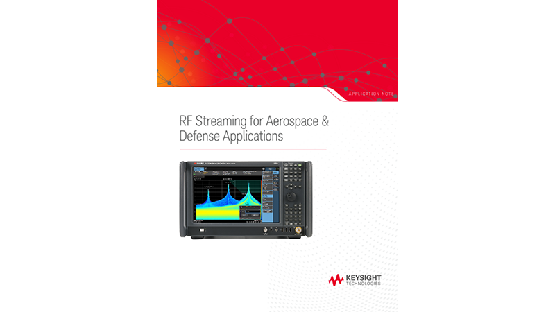 RF Streaming for Aerospace & Defense Applications