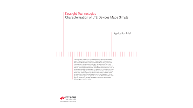 Characterization of LTE Devices Made Simple