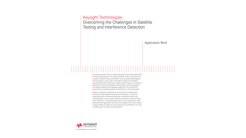 Satellite Testing and Interference Detection Challenges