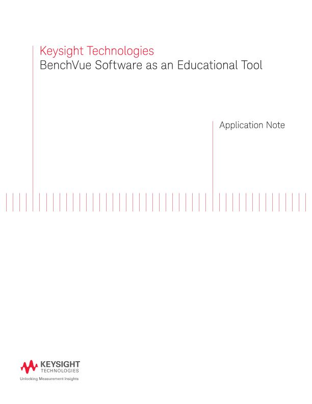 BenchVue Software as an Educational Tool