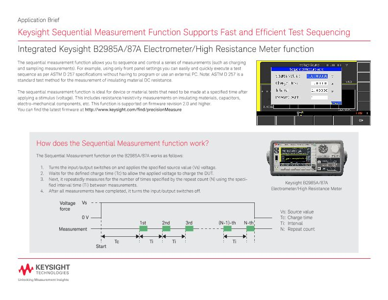 Sequential Measurement Function for Fast Test Sequencing
