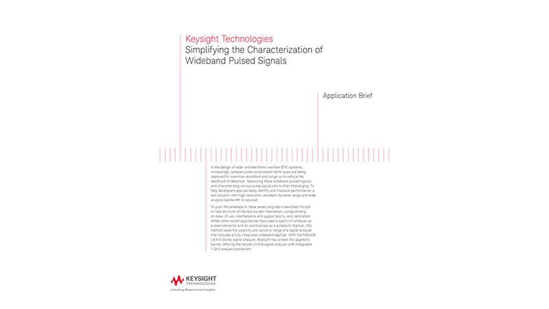 Simplifying Wideband Pulsed Signal Characterization