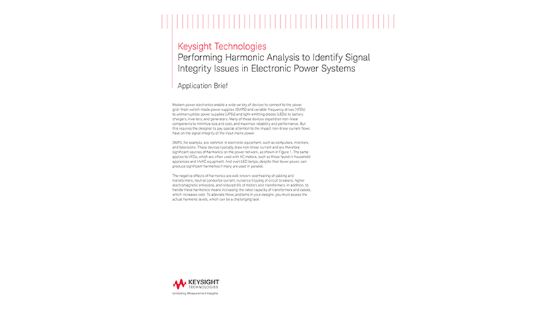 Perform Harmonic Analysis to Identify Signal Integrity Issues