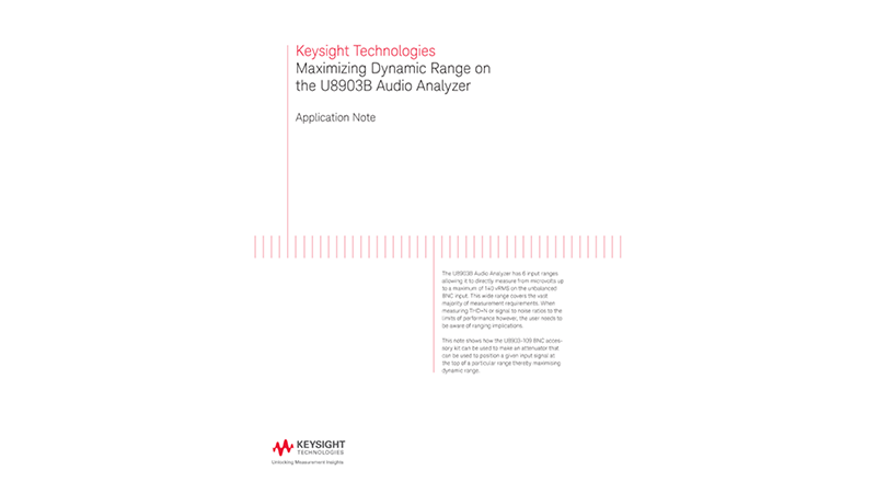 Maximize Dynamic Range with Accessory Kit on Audio Analyzers