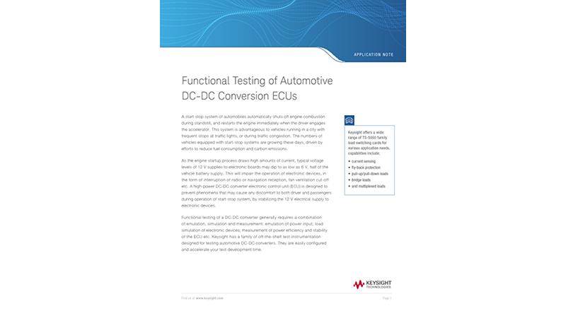 Functional Testing of Automotive DC-DC Converter ECUs