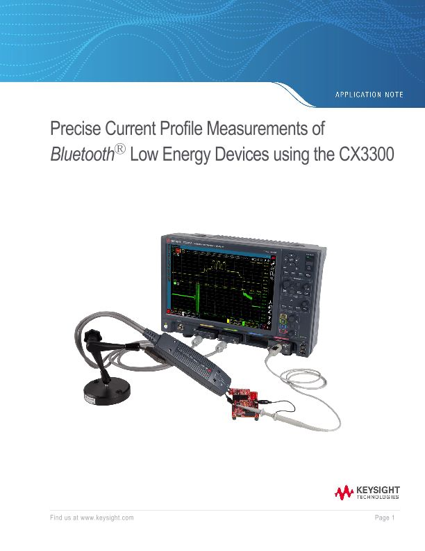 Bluetooth Low Energy Current Consumption Using The Cx3300 Keysight