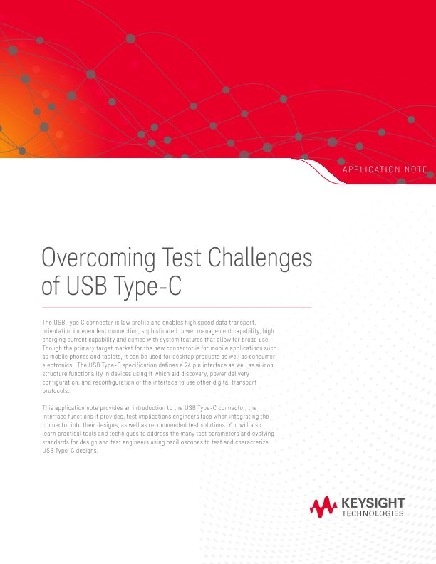 Overcoming Test Challenges of USB Type-C