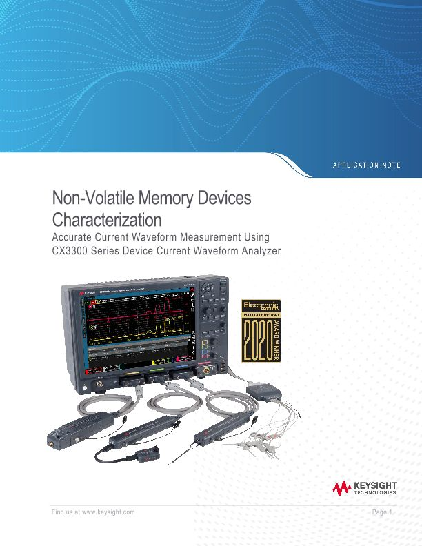 Non Volatile Memory Devices – Current Waveform Measurements