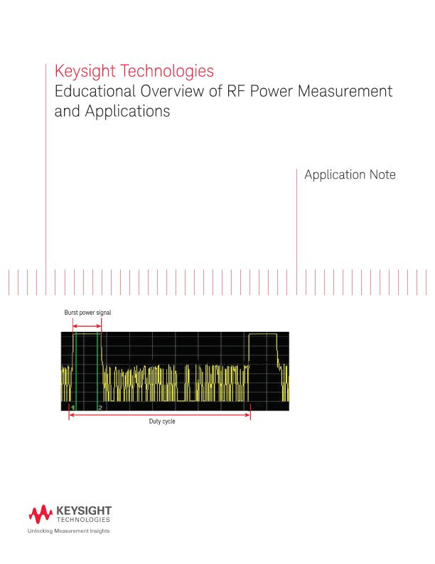 Educational Overview of RF Power Measurement Basics and Applications