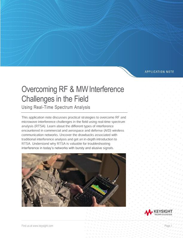Overcome RF and Microwave Interference Challenges