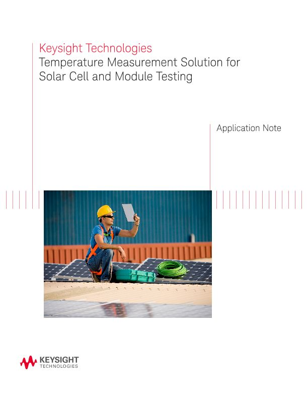 Temperature Measurement Solution for Solar Cell and Module Testing
