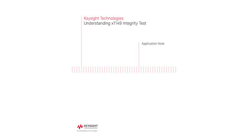 Integrity Test Using x1149 Boundary Scan Analyzer