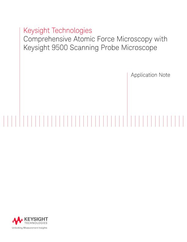 Atomic Force Microscopy with 9500 Scanning Probe Microscope