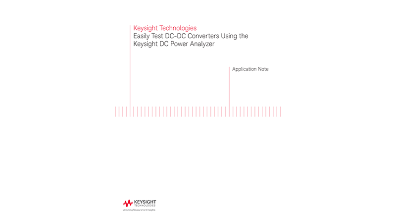 Performing DC-DC Converter Test Using DC Power Analyzers