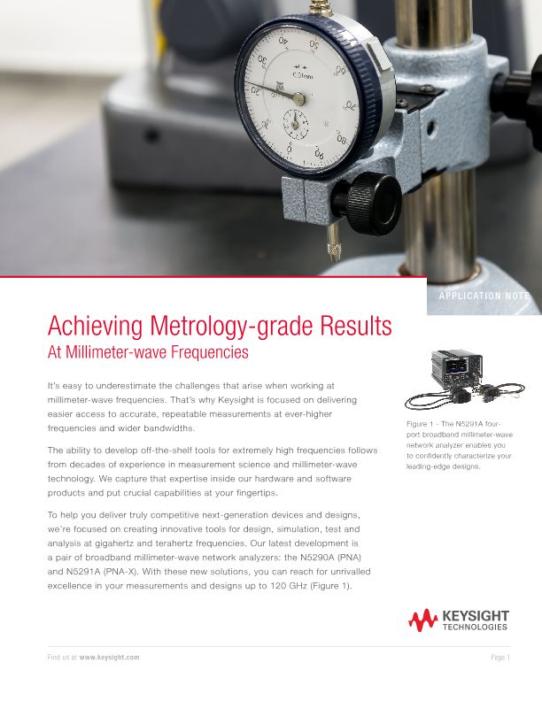 Achieving Metrology-grade Results in Vector Network Analysis at Millimeter-wave Frequencies