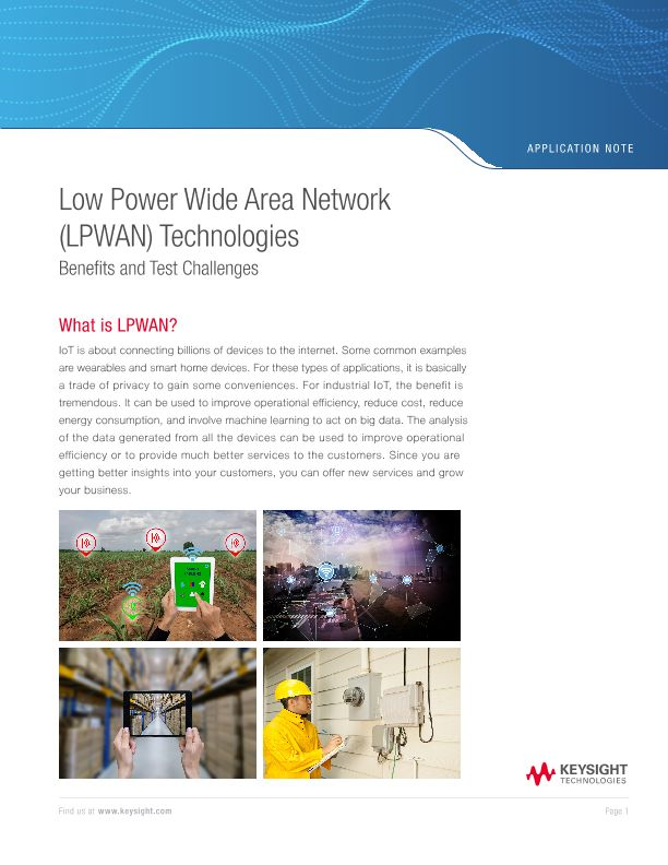 Challenges and Benefits of Low Power Wide Area Network (LPWAN)