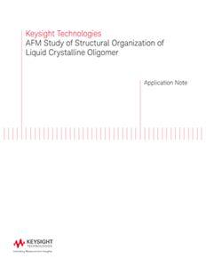 AFM study of Structural Organization of Liquid Crystalline