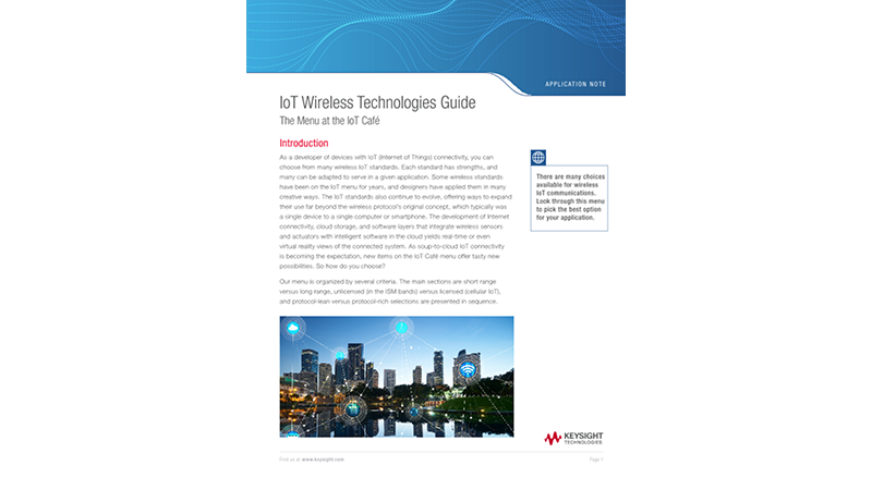 IoT Wireless Technologies Guide