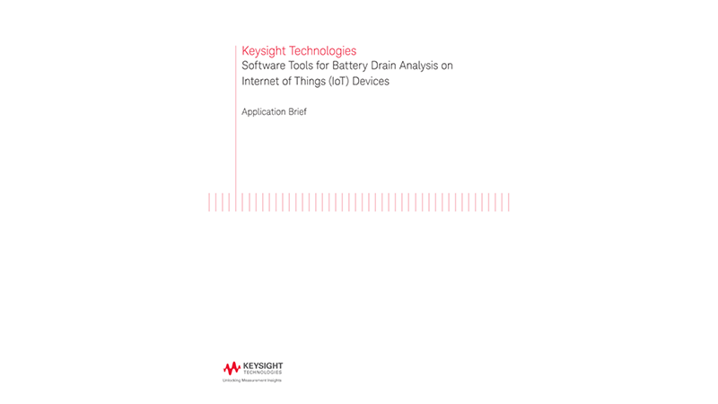 Software Tools for Battery Drain Analysis on Internet of Things (IoT) Devices