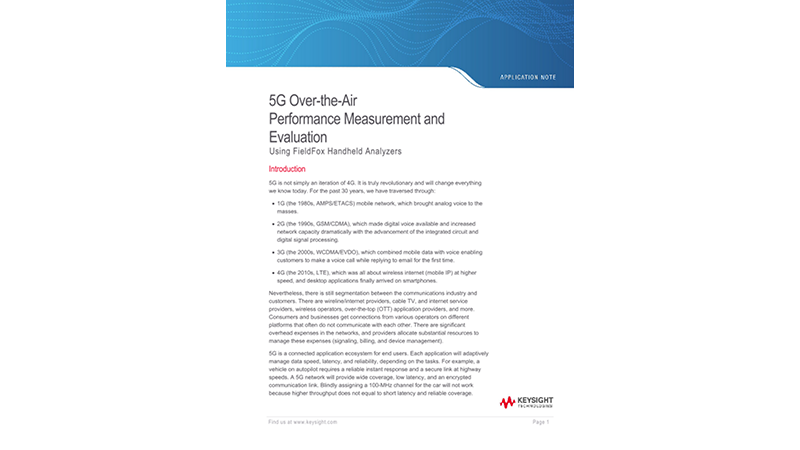 5G Over-the-Air Performance Measurement