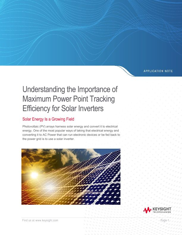 Maximum Power Point Tracking for Solar Inverters