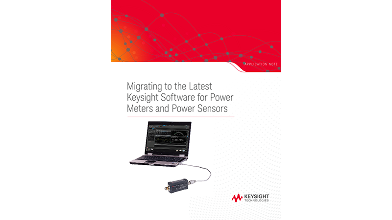Power Meters and Power Sensors Software Migration