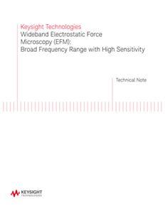 Wideband Electrostatic Force Microscopy (EFM)