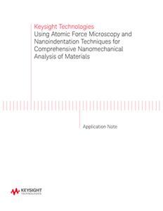 AFM and Nanoindentation Techniques for Nanomechanical Studies