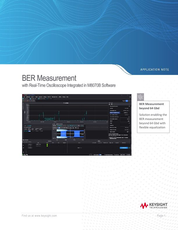 BER Measurement Using a Real-Time Oscilloscope Controlled from M8070A