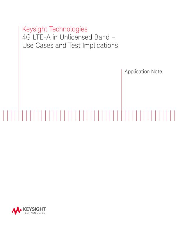 4G LTE-A in U Band (Unlicensed Band)