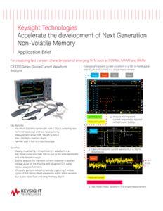 Accelerate the development of Next Generation Non-Volatile Memory