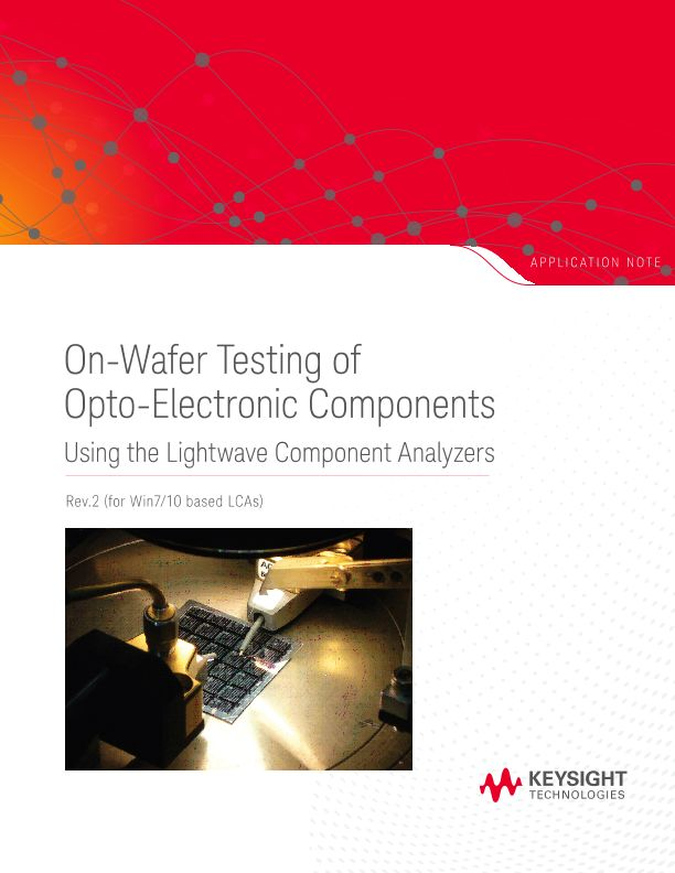 On-Wafer Testing of Opto-Electronic Components – Rev2